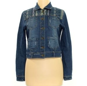 Jolt cropped jean jacket